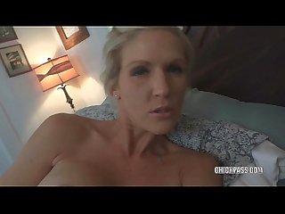 Horny wife jolene gets a big facial