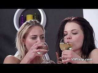 Pissing Lesbians - Oprah and Ella turn a sleepover into piss play