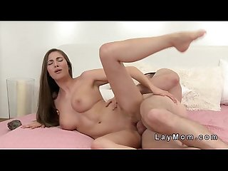 Beautiful euro milf fucked in bedroom