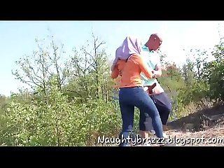 Muslim couple having Sex outdoor