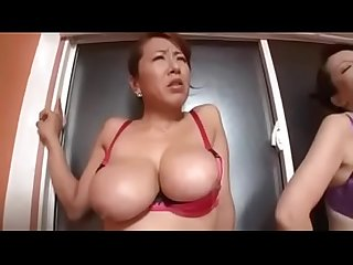 Big titted asian japanese mom and her young sons