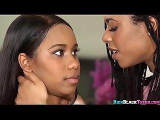 Two Ebony Teens Having Lesbian Fun