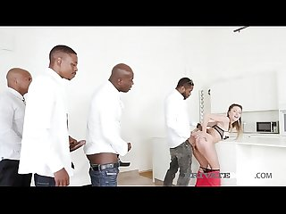 Cum Hungry Paulina Soul Does Interracial 4 BBC Gangbang!