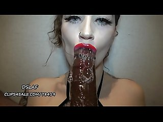 Interracial Blowjob-She Has DSLs And Super Sloppy Head- DSLAF