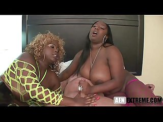 Phat ass black girls cum swap from a white cock