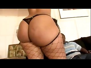 Vanilla red gets fucked in her phat ass really hard by a black guy