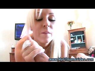 Cock loving real pov blonde