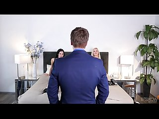 Kinky couple fuck in front of an estate agent Jasmine jae Nina elle at bskow