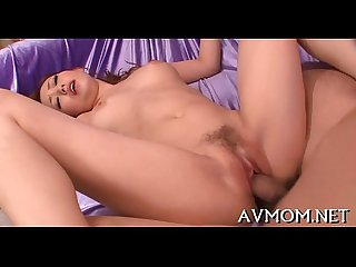 Milf oriental gets fingered and drilled