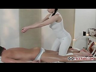 Sexy masseuse lucy li fucks after giving a massage