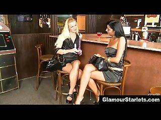 Classy glamorous lesbian couple