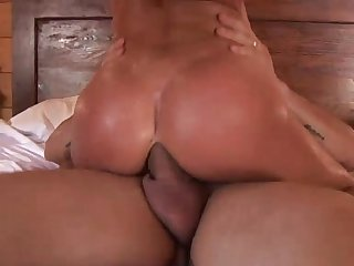 Amazing slut takes a big cock in the ass