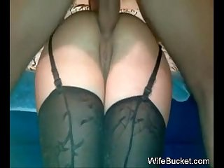 Here s a real milf wife who truly loves anal