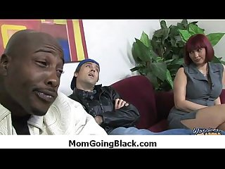 Super interracial sex horny MILF fucking black dude 2