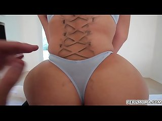 Step son's stiff pole fucks Nina Kayy's pussy from behind doggy!