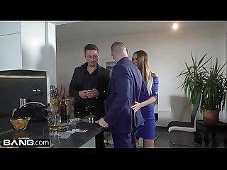 Glamkore - European babe gets a sensual erotic DP