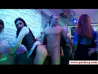 European Sexparty sluts riding stripper cocks
