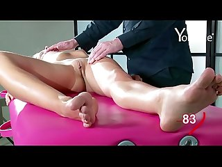 Yonitale Study: massage with beautiful skinny model
