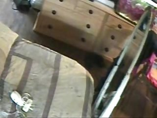 Hidden cam. Great masturbation of my kinky mom !!!