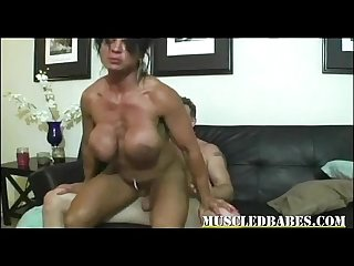 Super hot muscled big tit milf