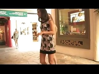 Cheerful girlfriends make fun at the mall xhamster