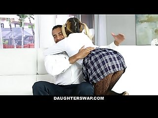 Daughterswap naughty school girls fucked by old Dads