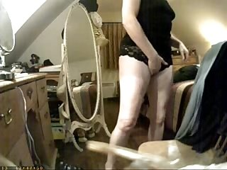 Have A look of huge clit of My mom period hidden cam