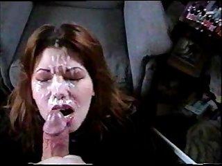 Amateur facial cumshot
