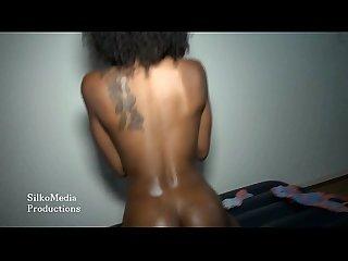 Ebony safarritiger teasing the pussy