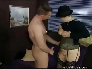 Mature granny in hardcore sex action