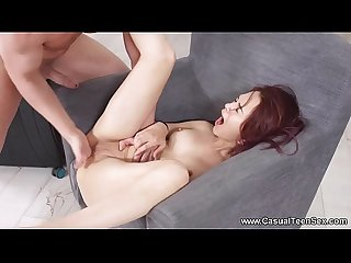 Casual Teen Sex - Teen redhead Michelle Can sex in a big city