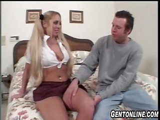 BlondeTeen Loves Older Guy's Cock