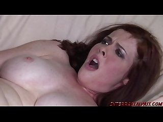 Redhead Mom plowed by big black cock