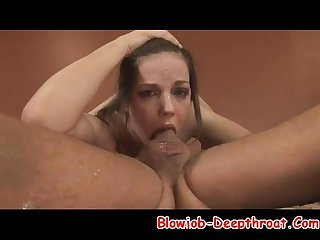 Very nice deepthroat by her gf what a lucky guy blowjob deepthroat com