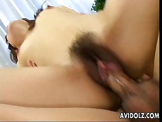 Two cocks double the delight for the slutty asian