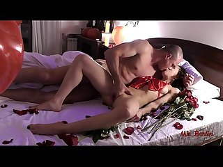 Romantic valentine S day surprise for my love turned to hot sex mia bandini