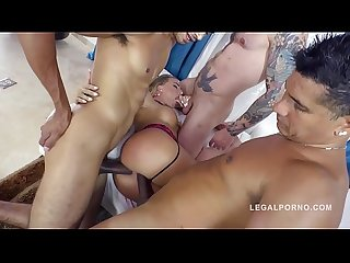 Big butt anal gangbang makes curvy Juelz Ventura scream & cream for more