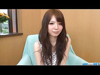 Aya eikura plays with her shaved cherry in solo