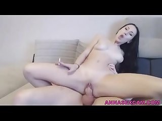 Smoking and riding a cock she is a multitasking girl annasexcam com