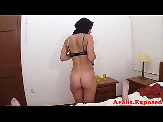 Amateur hijab arab spanked before cockriding