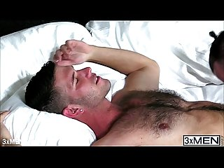 Hairy dude jimmy fanz is giving tanner shields a chance to have a taste of his C