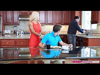 Breakfast sex with stepmom and stepdaughter 06