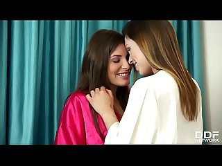 Lesbo Sleepover leads to intense fingering with jenny appach sindy black
