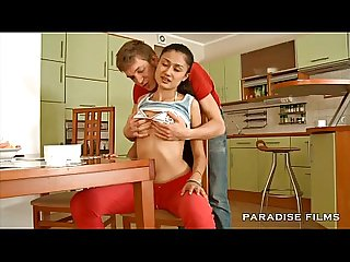 Paradise films sexy teen has creampie for breakfast