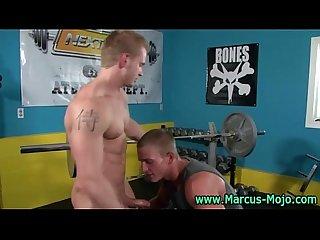 Marcus mojo enjoys hard cock sucking action