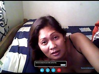 Filipina merri berstagos Vid chat with bf