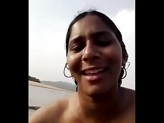 Telugu nude couple playing in river