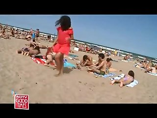 Hot Indian MILF On Barcelona Beach