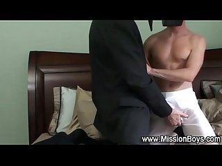 Religious boy sucks elder cock