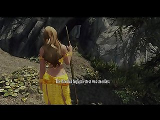 Sexy priestess captured dominated and gangbanged by monsters Skyrim 3d hentai